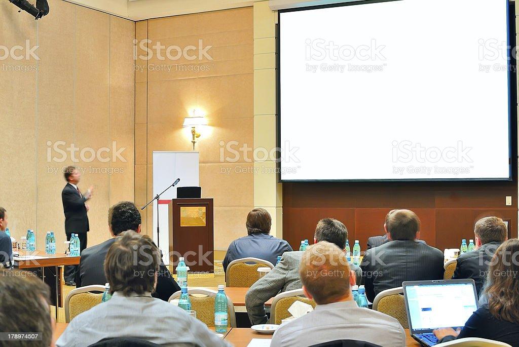 conference, presentation in aditorium stock photo