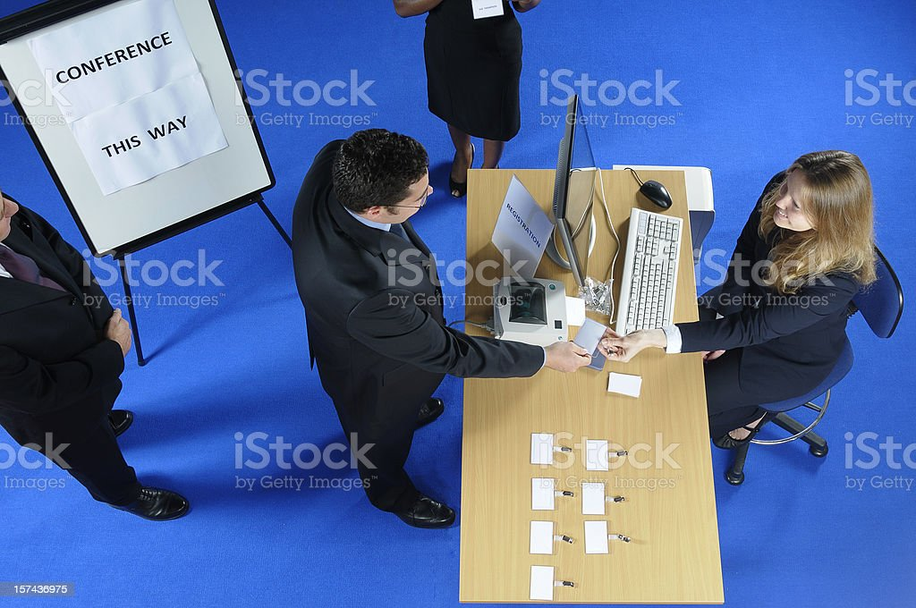 Conference Registration stock photo