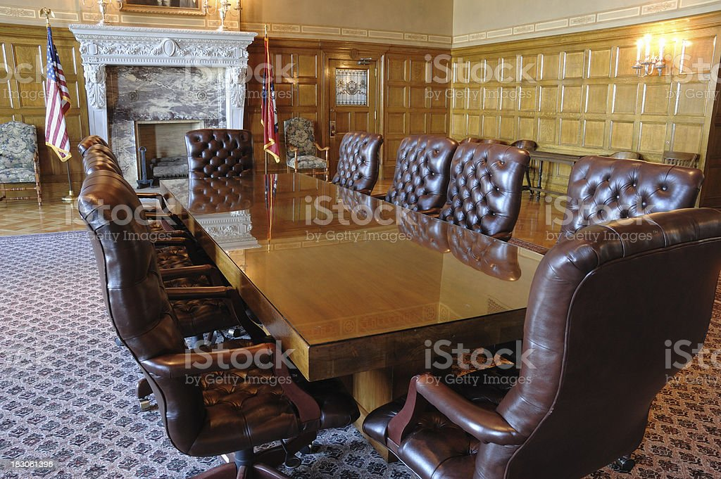 Conference Room at the Arkansas State Capital stock photo