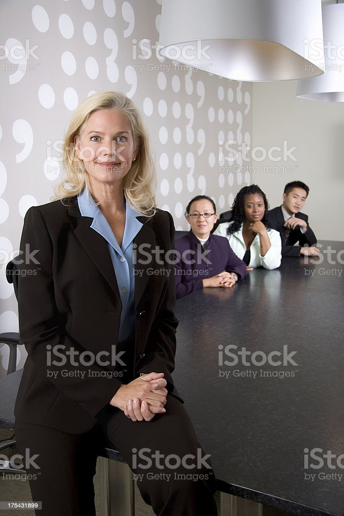 Conference Room BusinessTeam royalty-free stock photo