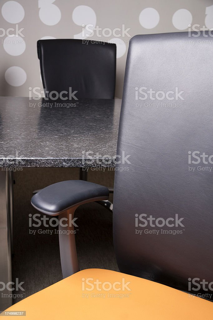 Conference room chairs - perspective royalty-free stock photo