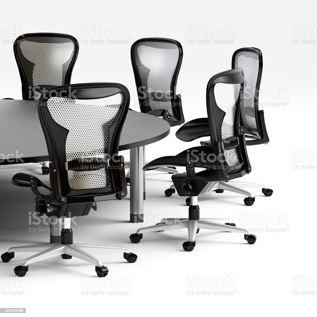 Conference room in office on white background stock photo