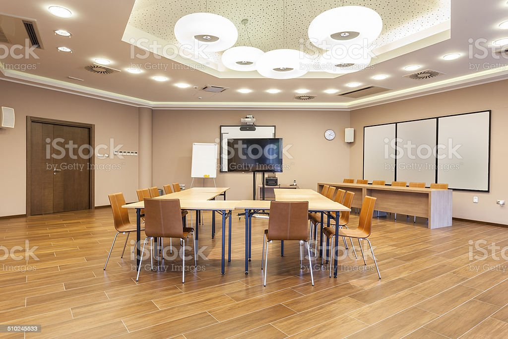 Conference room interior stock photo