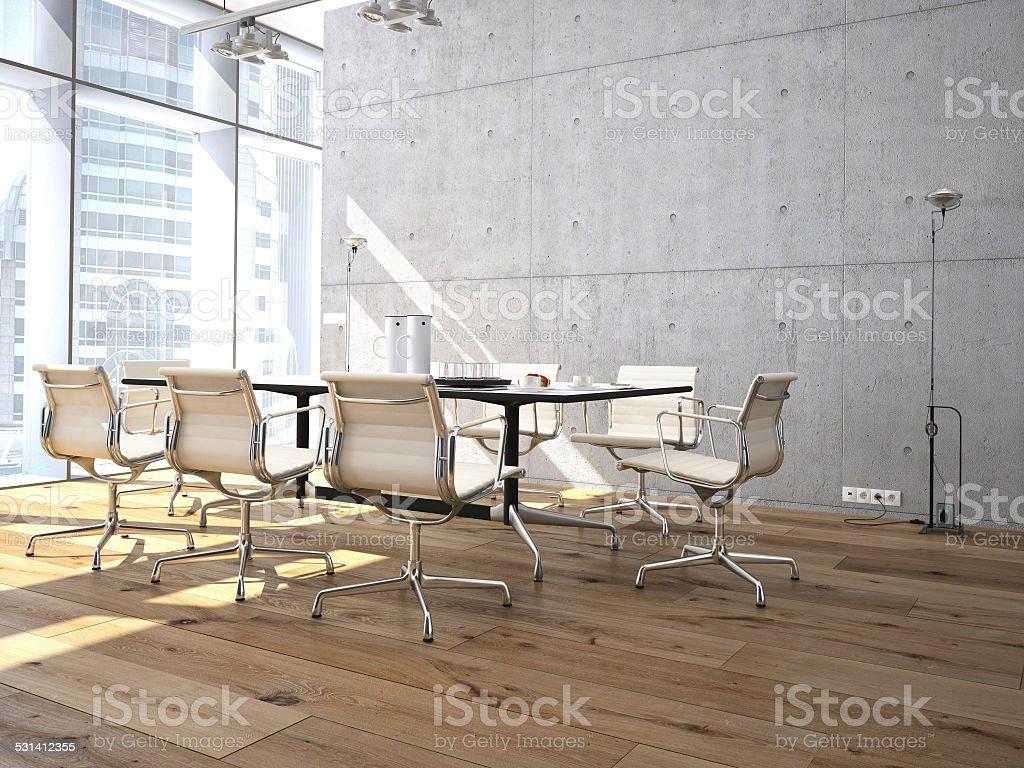 Conference room interior stock photo
