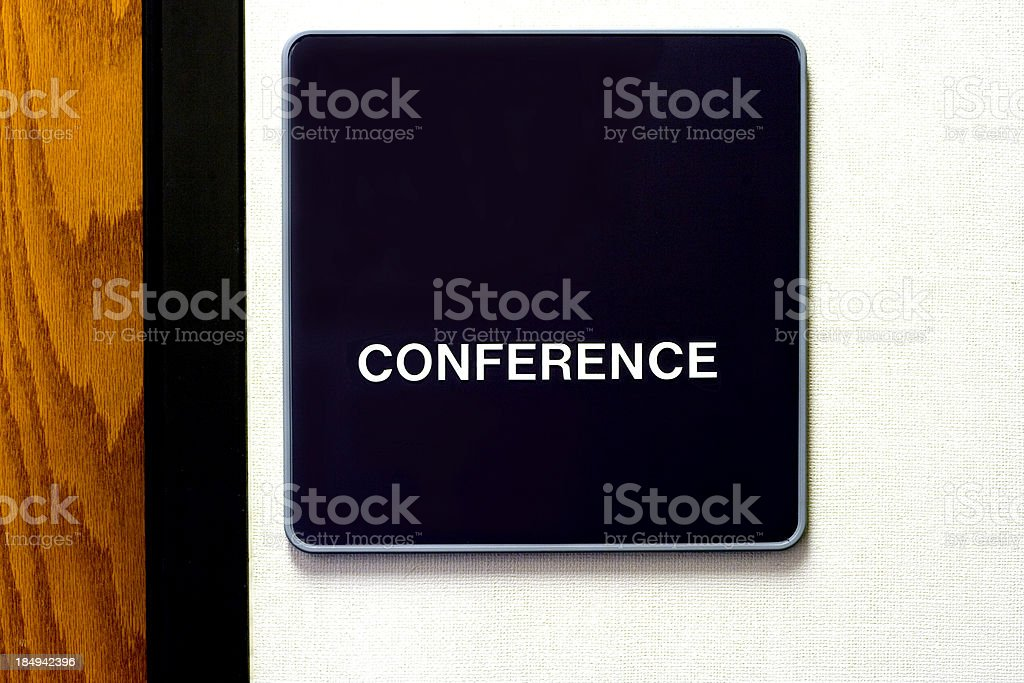 conference room signage stock photo