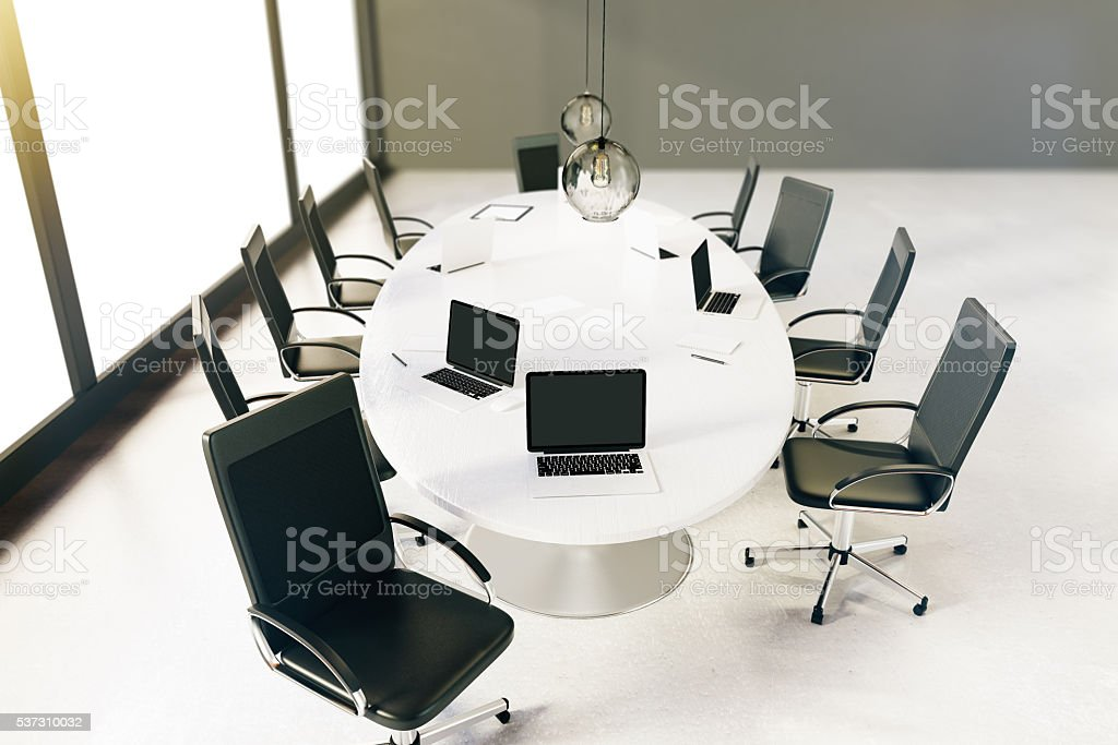 Conference room top stock photo