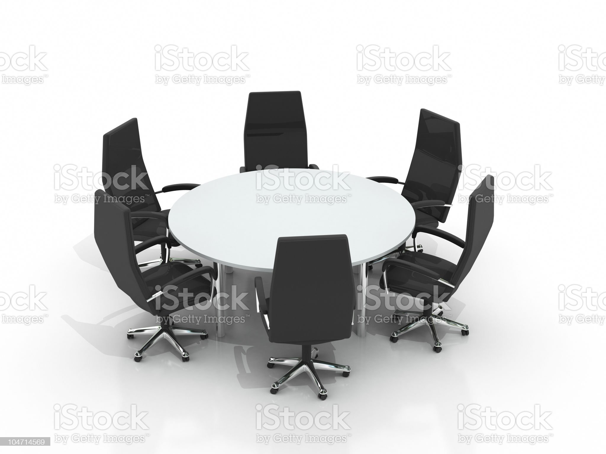 conference round table and chairs royalty-free stock vector art