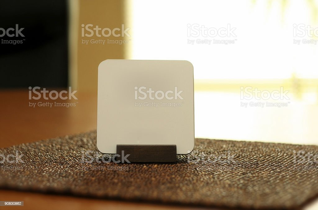 Conference Table Coaster stock photo