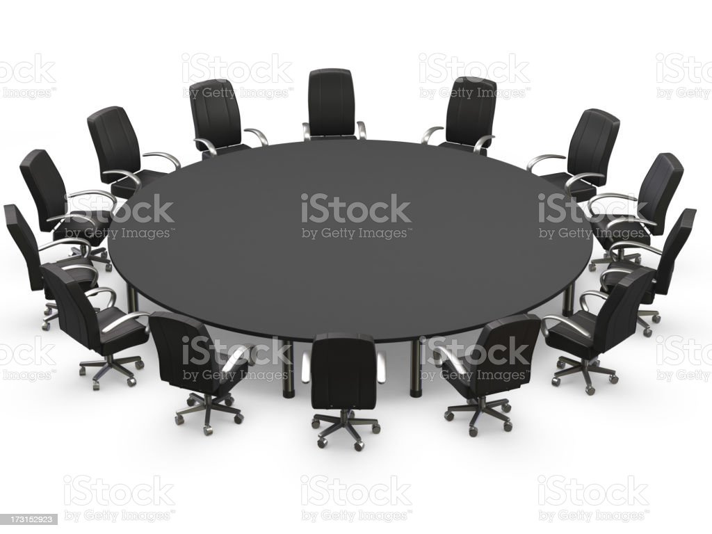 Conference table with chairs of black royalty-free stock photo