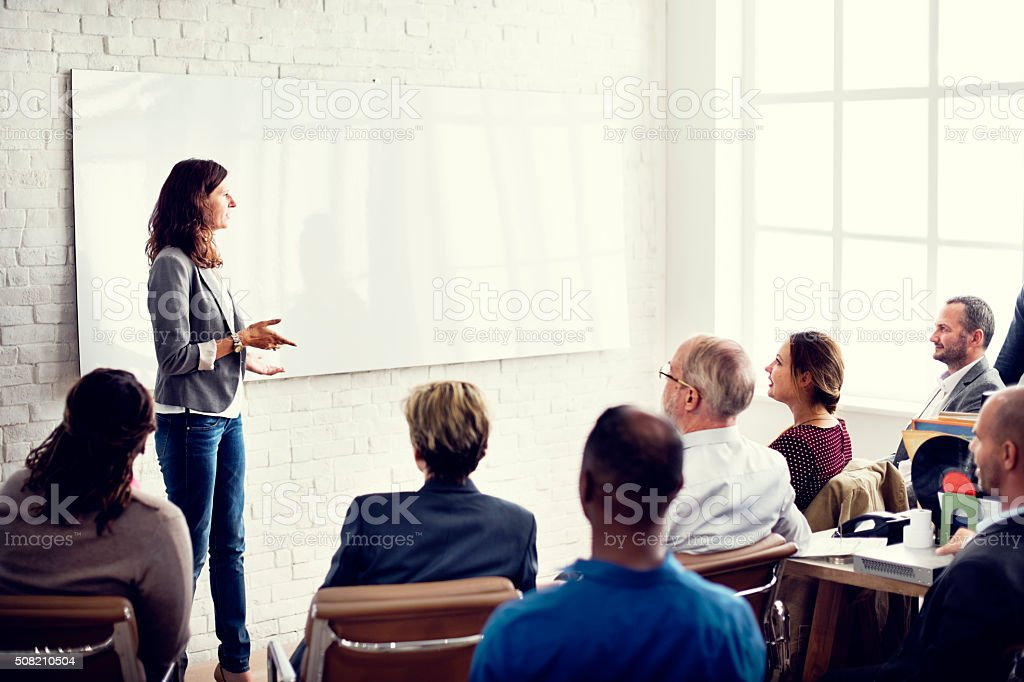 Conference Training Planning Learning Coaching Business Concept stock photo
