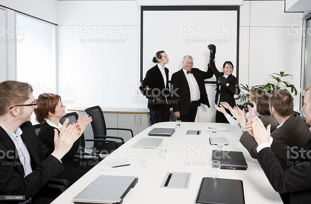 Conferenceroom Series - Fight royalty-free stock photo