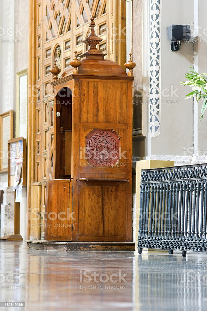 Confesion Booth royalty-free stock photo