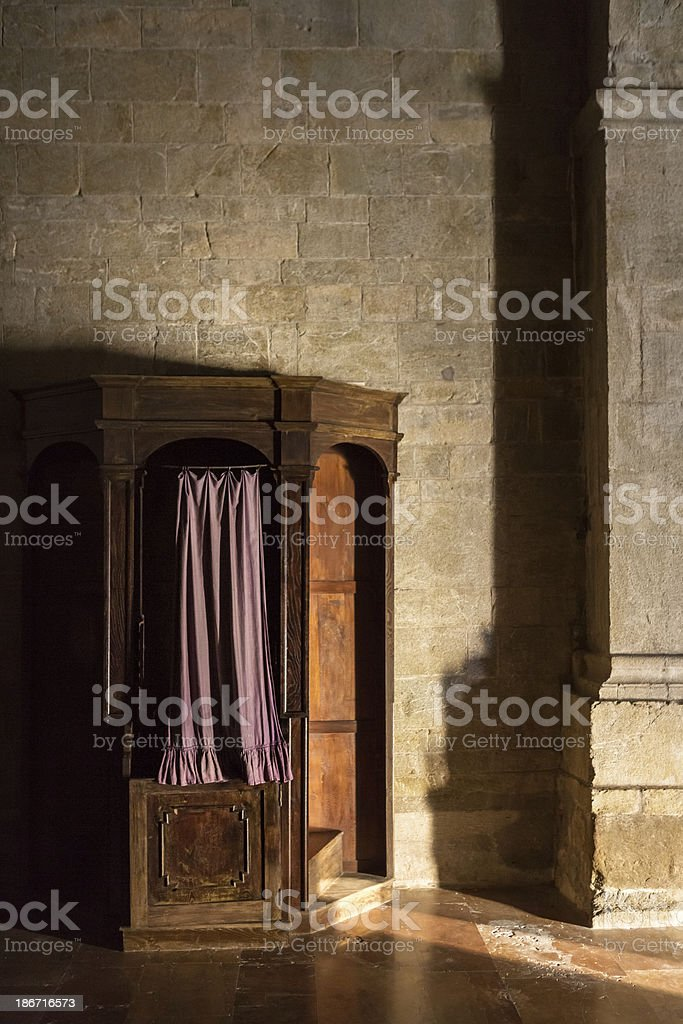 Confession booth royalty-free stock photo