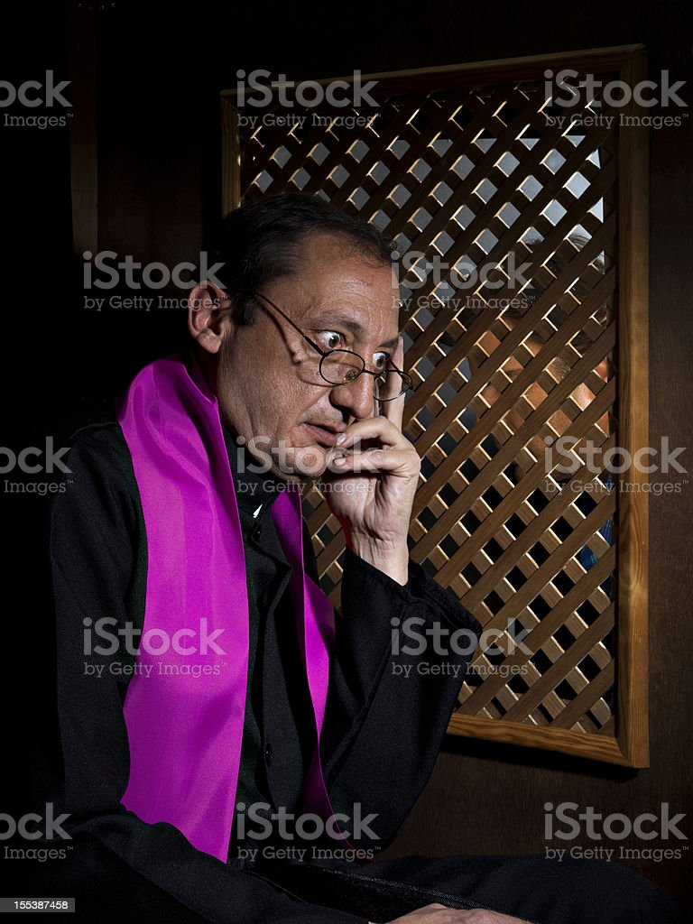 Confession stock photo