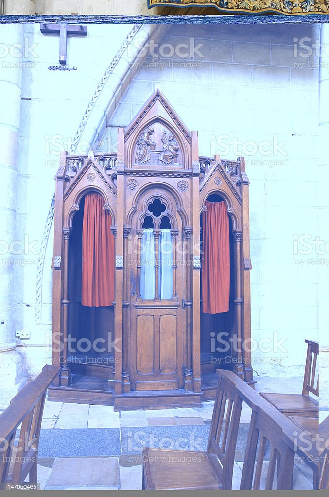 Confessional box royalty-free stock photo