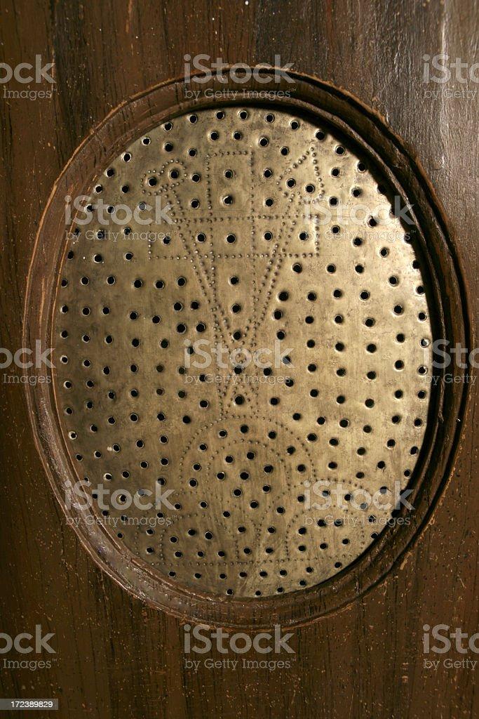 Confessional particolar stock photo