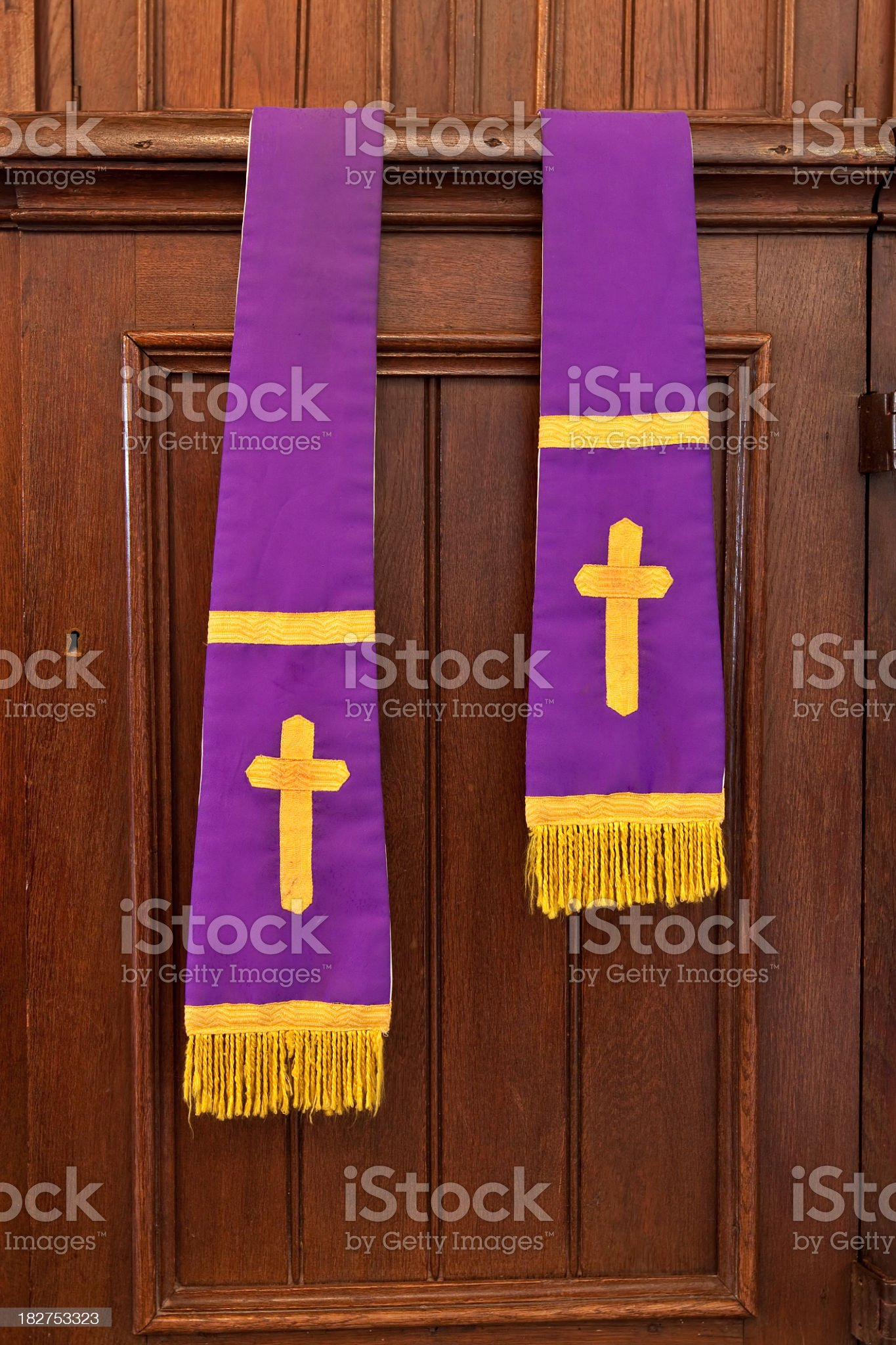 Confessional stole royalty-free stock photo
