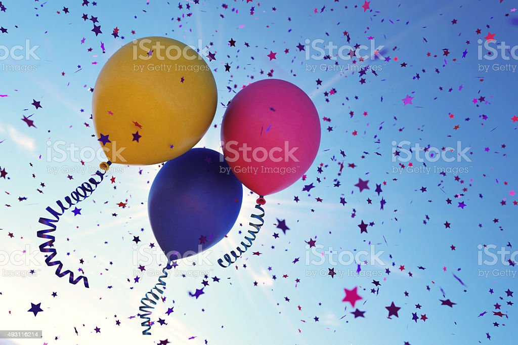 Confetti Balloons A03 stock photo