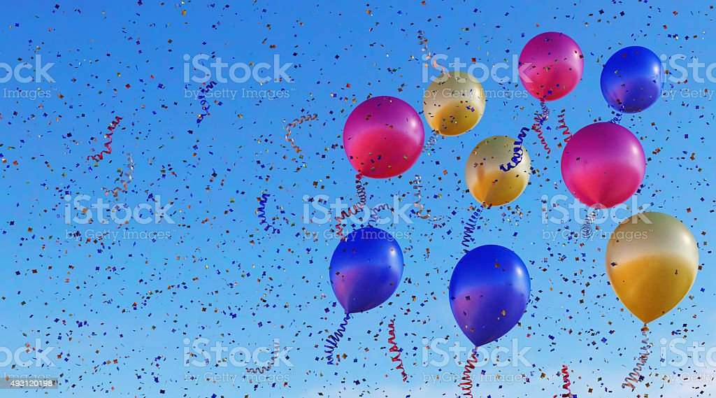 Confetti Balloons A11 stock photo