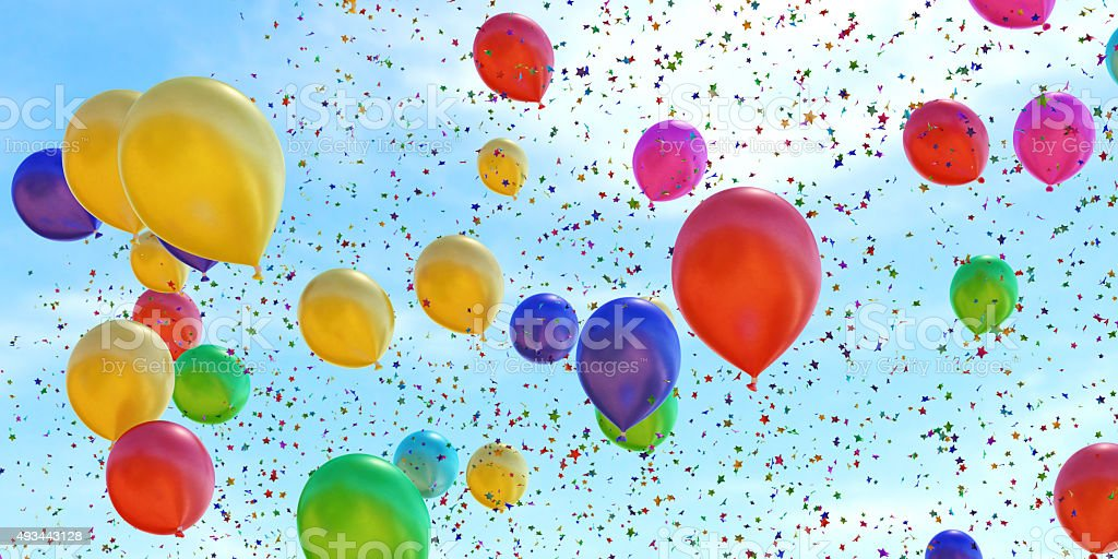 Confetti Balloons A14 stock photo