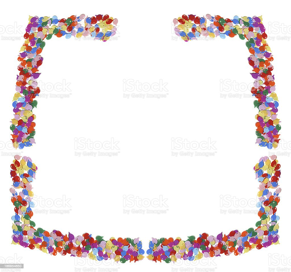 confetti border royalty-free stock photo