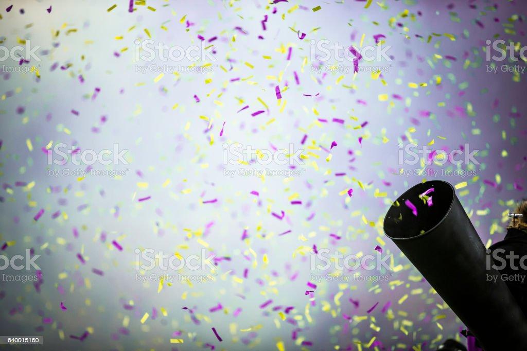 Confetti canon stock photo