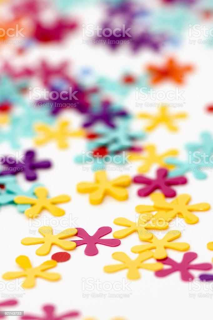 Confetti CloseUp royalty-free stock photo