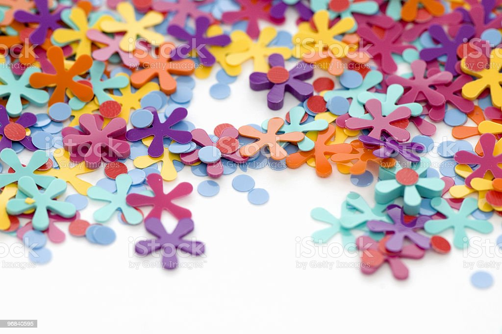 Confetti Close-Up royalty-free stock photo