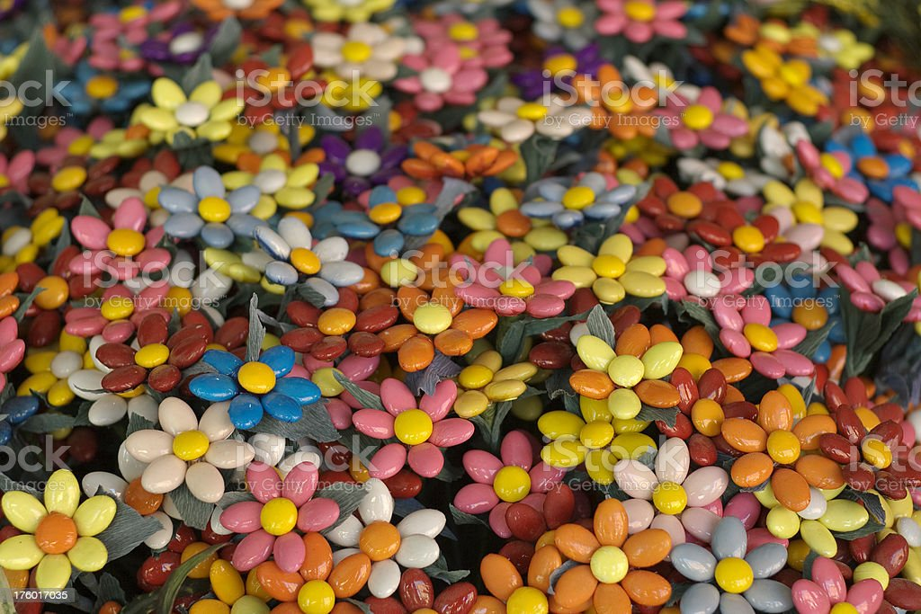Confetti flowers from Sulmona royalty-free stock photo