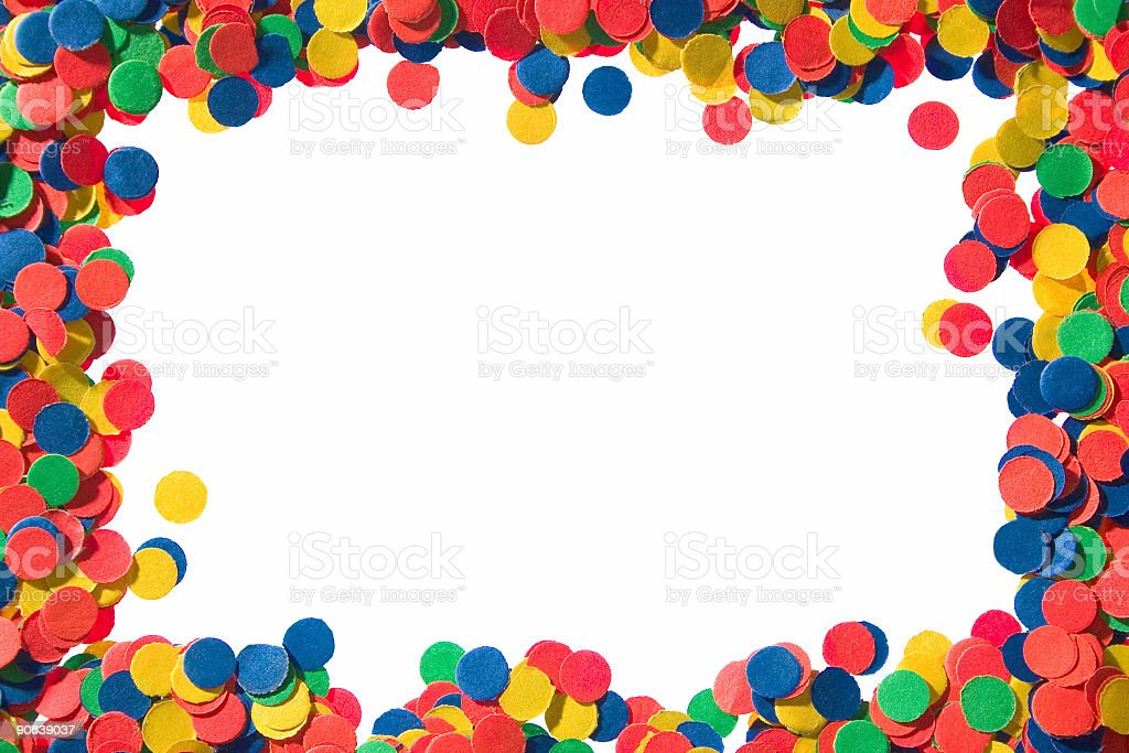 confetti frame#1 royalty-free stock photo