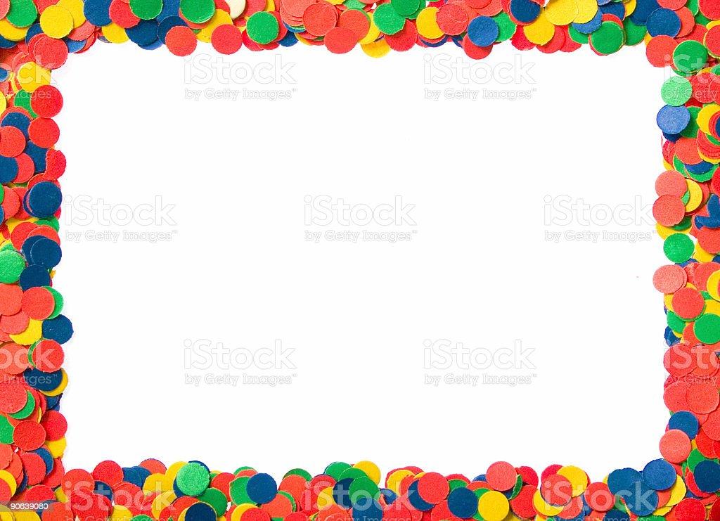 confetti frame#2 stock photo