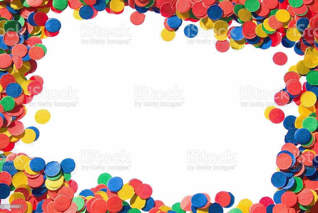 confetti frame-revolved stock photo