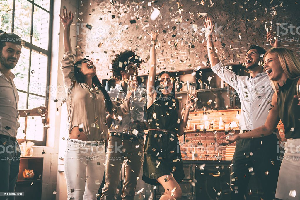 Confetti fun. royalty-free stock photo