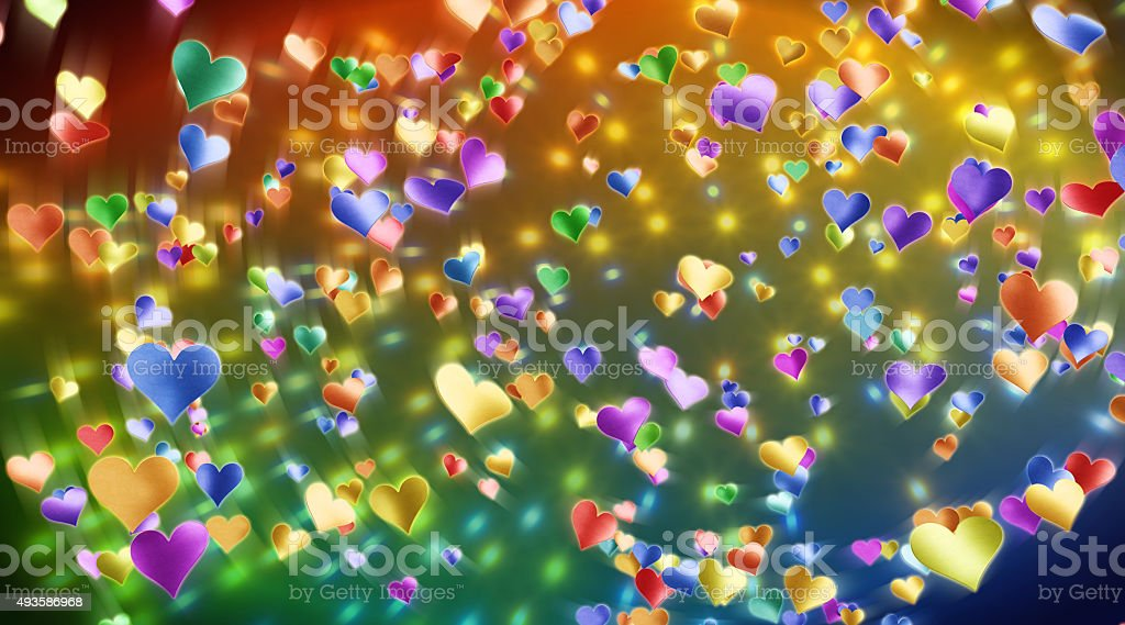 Confetti Hearts A05 stock photo
