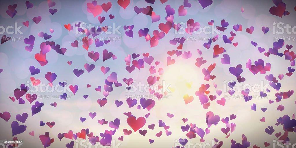 Confetti Hearts stock photo