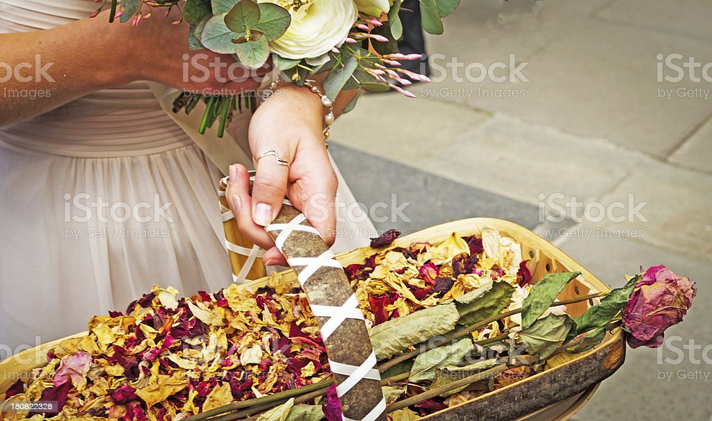 Confetti in a trug royalty-free stock photo