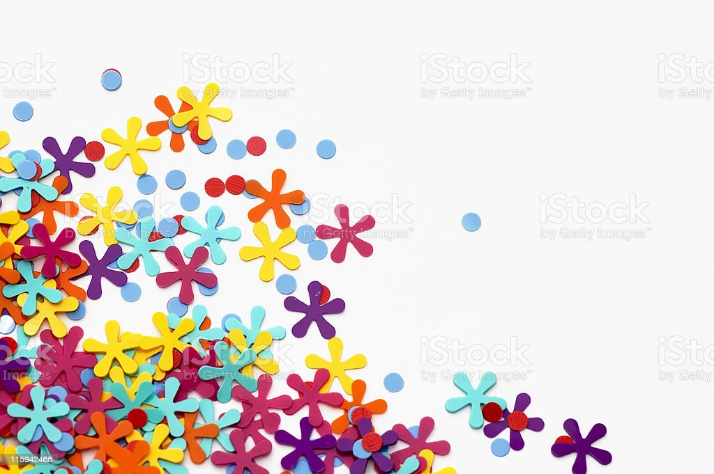 Confetti royalty-free stock photo