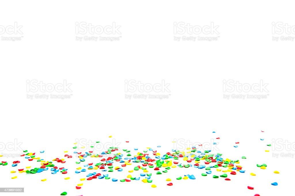 Confetti stock photo