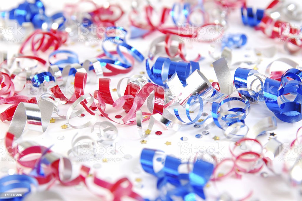 Confetti red white and blue royalty-free stock photo
