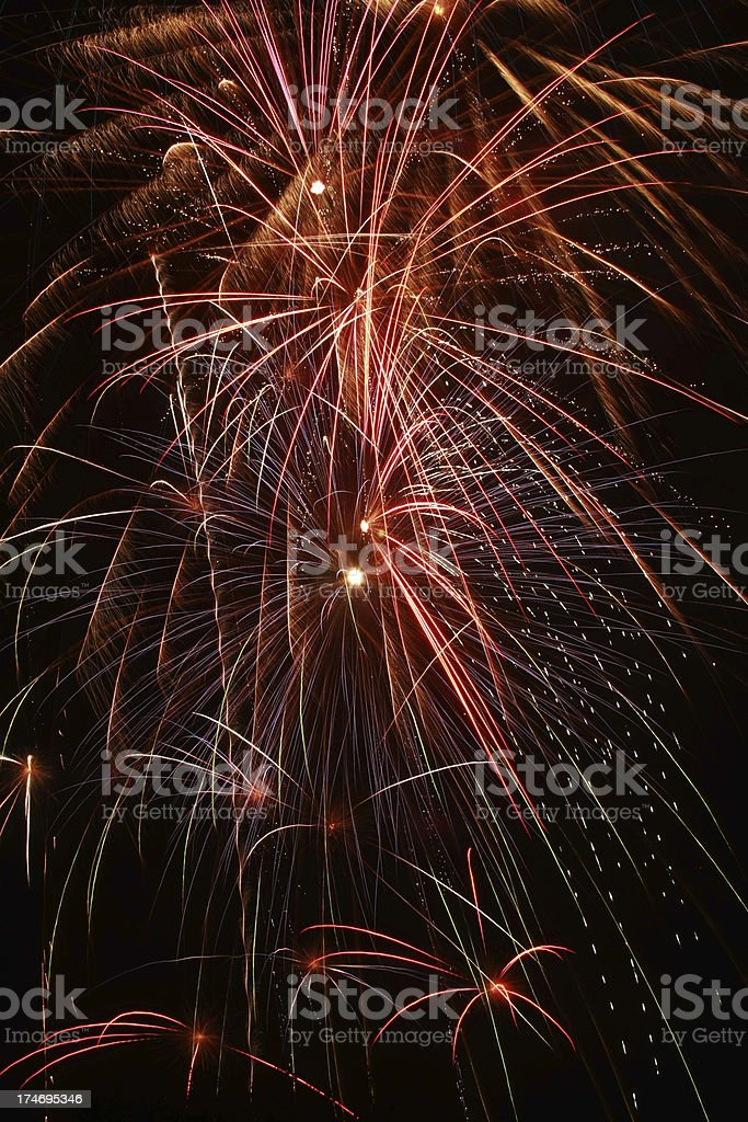 Confetti-like Fireworks Display royalty-free stock photo