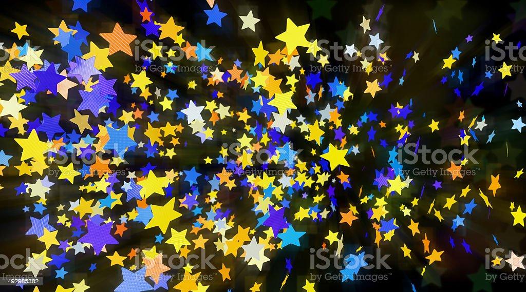 Confetti-Stars-A05 stock photo