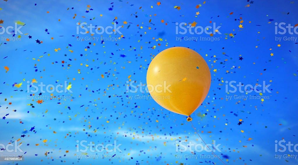 Confetti-Stars-A08 stock photo