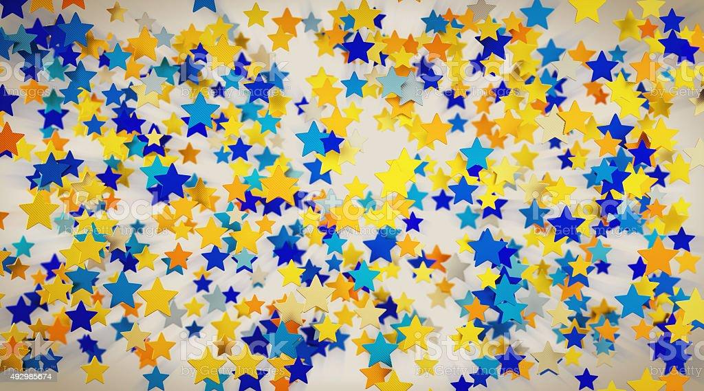 Confetti-Stars-A10 stock photo