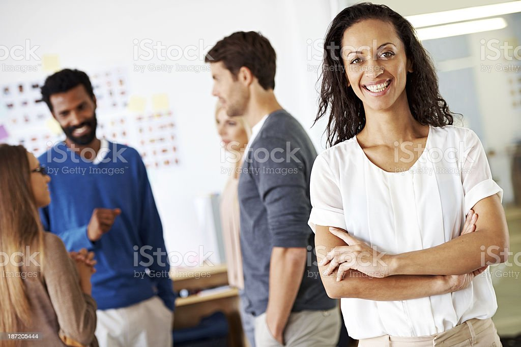 Confidence and a positive attitude are great attributes royalty-free stock photo