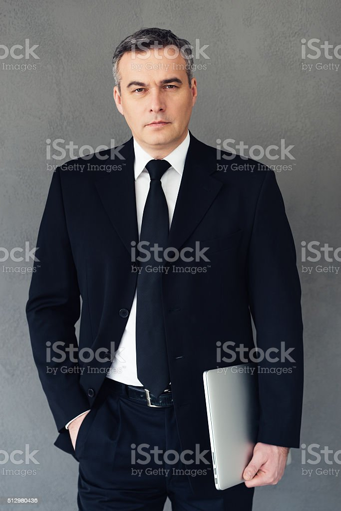 Confidence and intelligence. stock photo