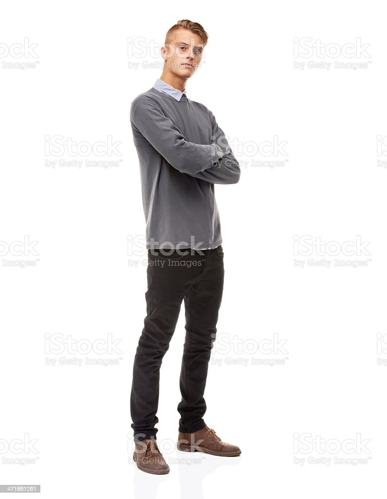 Confidence and presence - He's got them both! stock photo