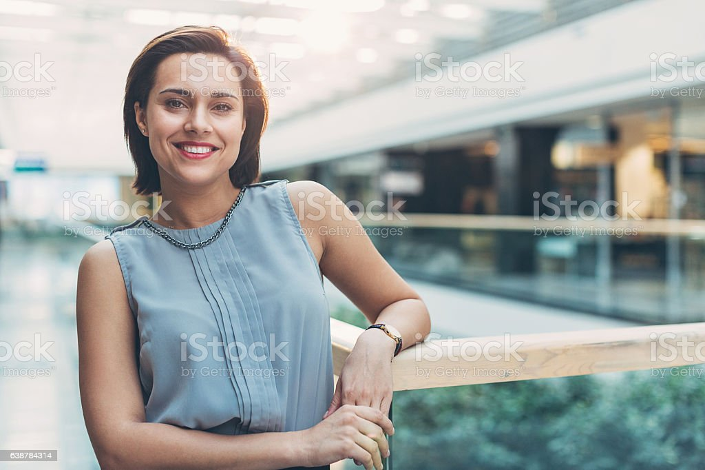 Confidence and satisfaction in business stock photo