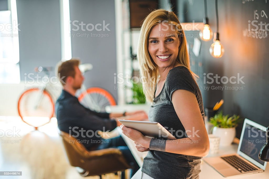 Confidence breeds success stock photo