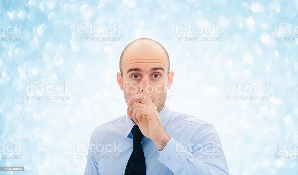 Confidence business man on christmas background stock photo