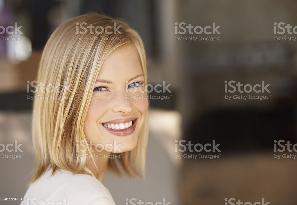 Confidence gives her that special something! stock photo